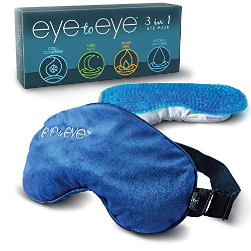 Eye to Eye DRY EYE MASK (1 Removable Case, 2 Unique Inserts) – Machine Washable, Cold or Hot Compress, Odor Free – Doctor Recommended Solution that Really Helps Dry Eyes (Blepharitis)
