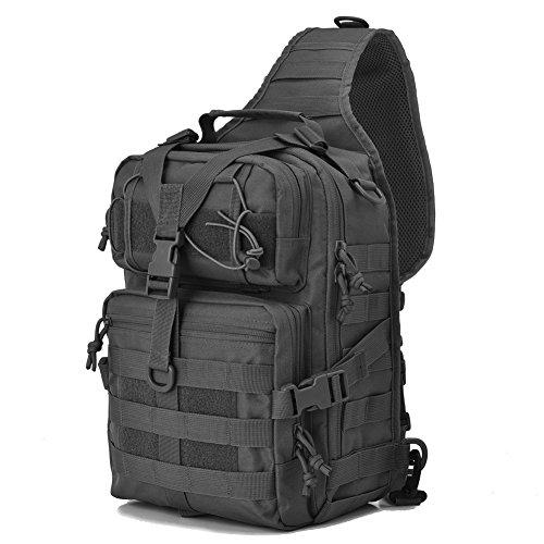 Gowara Gear Tactical Sling Bag Pack Military Backpack Range Bags Black