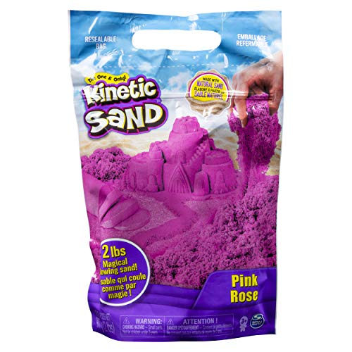 Kinetic Sand The Original Moldable Sensory Play Sand, Pink, 2 Pounds