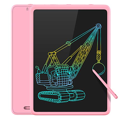 TECBOSS LCD Writing Tablet Colorful Large Screen, 11 Inch Kids Electronic Digital Drawing Board Doodle Pad, Educational Toys for 3-6 Years Old Boy and Girls (Pink)