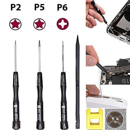 Pentalobe Screwdriver Set - Professional Mac Tool Kit with P2, P5, P6 Precision 5-Point Star Screwdrivers - Easily Open and Repair MacBook Pro, Air and iPhone 4s to 7 Plus