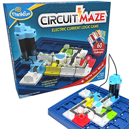 ThinkFun Circuit Maze Electric Current Brain Game and STEM Toy for Boys and Girls Age 8 and Up - Toy of the Year Finalist, Teaches Players about Circuitry through Fun Gameplay