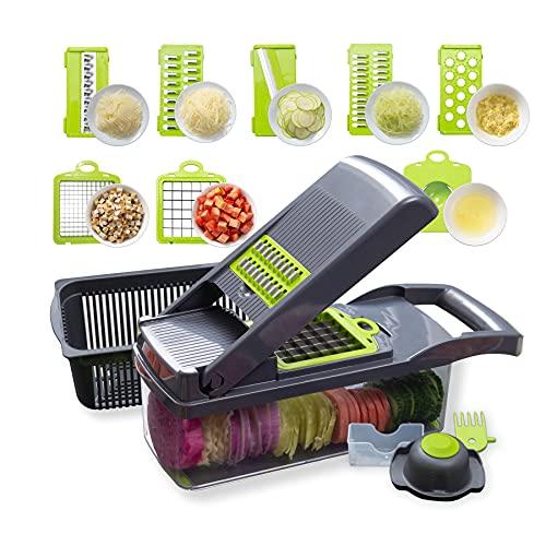 Vegetable Chopper Kitchen Accessories, Veggie Slicer Potato Cutter, Food Chopper Onion Chopper Spiralizer