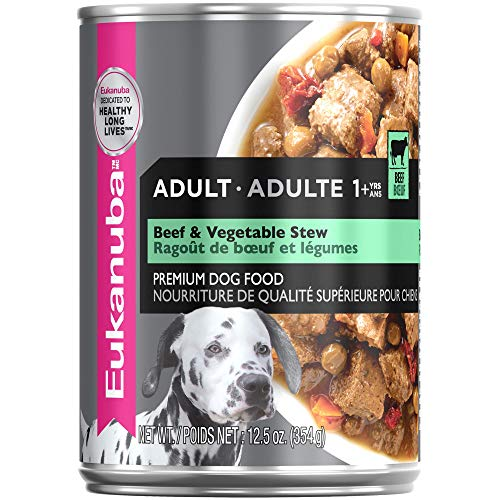 Eukanuba Hearty Stew with Beef & Vegetable Cuts in Gravy Adult Canned Dog Food, 12.5 oz, Case of 12