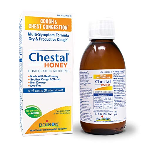 Boiron Chestal Honey Adult Cough Syrup, 6.7 Fl Oz (Pack of 1), Homeopathic Medicine for Cough and Chest Congestion