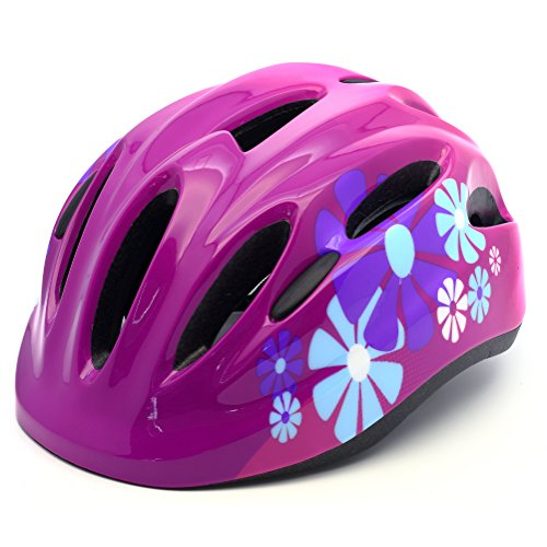M Merkapa Kids Bike Helmet Adjustable Bicycle Helmets for Toddler and Youth (Hot Pink, S)