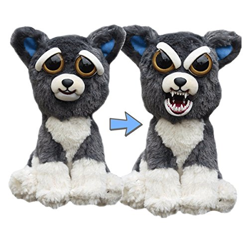 Feisty Pets: Sammy Suckerpunch- Adorable 8.5' Plush Stuffed Dog That Turns Feisty With A Squeeze