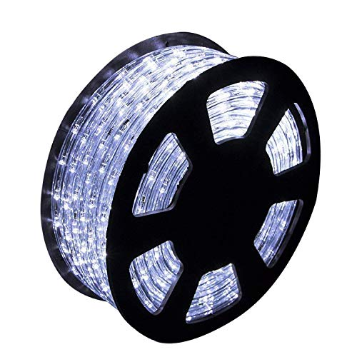 Ainfox LED Rope Light, 150Ft 1620 LEDs Indoor Outdoor Waterproof LED Strip Lights Decorative Lighting (Cool White)