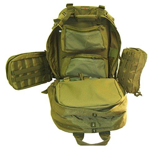 New Explorer 4 Fold Tool Medical First Aid Duffle Bag, OD Green
