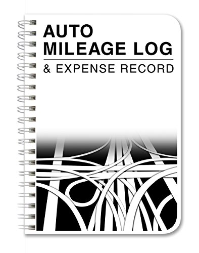 BookFactory Mileage Log Book/Auto Mileage Expense Record Notebook for Taxes - 126 Pages - 5' X 7' Wire-O (LOG-126-57CW-A(Mileage))