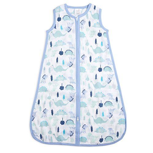 aden + anais Classic Sleeping Bag; 100% Cotton Muslin; Wearable Baby Blanket; Dinos; Extra Large; 18+ Months