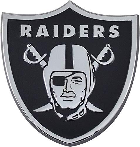SLS FANMats Las Vegas Raiders Premium Solid Metal Auto Emblem Chrome Raised Decal Football