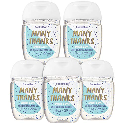 Bath and Body Works MANY THANKS 5-Pack PocketBac Hand Sanitizers (Apricot and Apple)