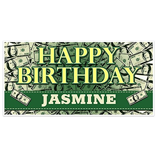 Pile Of Money Birthday Banner Party Decoration Backdrop