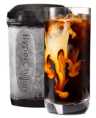 Maxi-Matic HyperChiller Patented Instant Coffee/Beverage Cooler, Ready in One Minute, Reusable for Iced Tea, Wine, Spirits, Alcohol, Juice, 12.5 Oz, HC3 Black