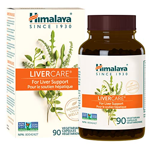Himalaya LiverCare/Liv. 52 for Total Liver Support, Cleanse and Detox, Protects Cells & Enzymes, 375 mg, 90 Capsules, 45 Day Supply