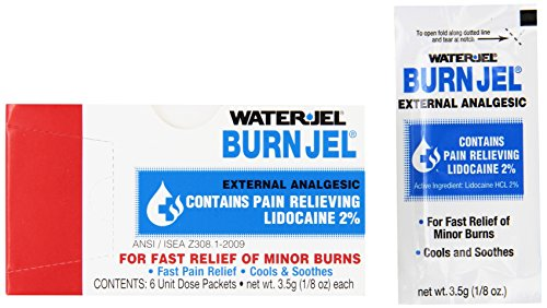 Water Jel Waterjel 2421 Water-Jel Unit Dose Burn Gel, 3.5 gm Packet (Pack of 6)