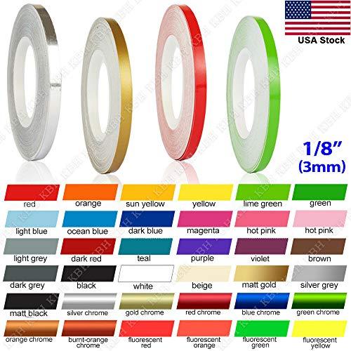 N / A 32 Feet 1/8' Roll Vinyl Pinstriping Pin Stripe DIY Self Adhesive Line Car Tape Decal Stickers (Dark RED)