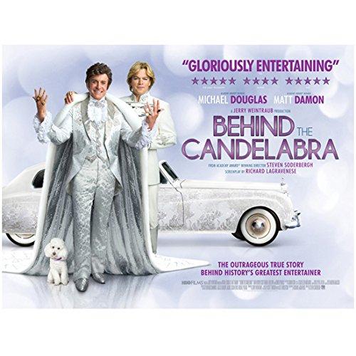 Behind the Candelabra Matt Damon (Scott Thorson) and Michael Douglas (Liberace) Promo 8 x 10 Inch Photo