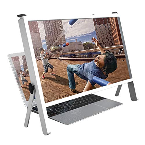 YXCKG HD Screen Enlarge, Laptop Screen Magnifier 21 Inch, HD Screen Amplifier, Universal Screen Projector 3X Magnifier Fresnel Lens, Eye Protection Lens, Use for Desk (Color : White)
