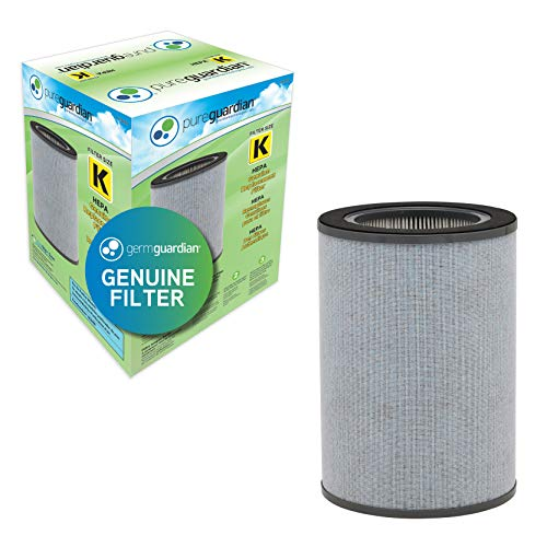 Germ Guardian FLT9400 True HEPA GENUINE 360-Degree Air Purifier Replacement Filter K with Activated Carbon Filter for GermGuardian Purifier AC9400W