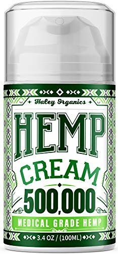 Pain Relief Hemp Cream 500,000 - Relieves Arthritis Pain, Muscle and Joint Pain, Lower Back and Knees Pain - Anti Inflammatory Cream - Made in USA - Grown & Made in USA - Non-GMO - 100ML
