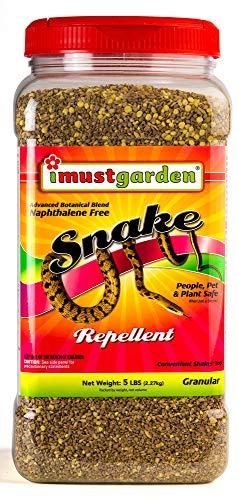 I Must Garden Snake Repellent: Powerful All-Natural Protection – 5 lb. Granular Shaker Jar