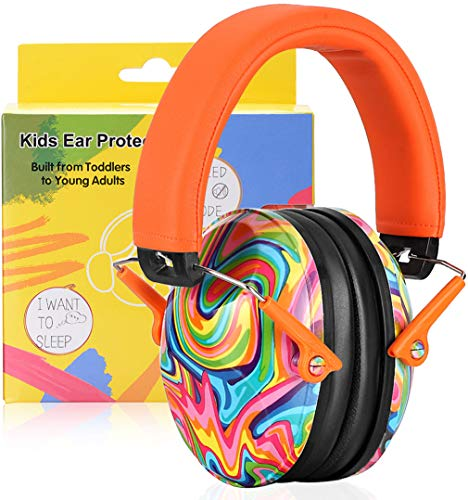 PROHEAR 032 Kids Ear Protection Safety Ear Muffs, NRR 25dB Noise Reduction Childrens Earmuffs, Adjustable Headband Hearing Protectors for Sports Events, Concerts, Racing, Airports - Lollipop Pattern …