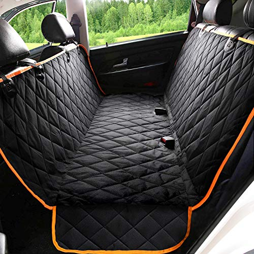 Kytely Upgraded Dog Car Seat Cover Waterproof Pet Seat Covers for Back Seat, Scratch Proof & Nonslip Backing & Hammock, 600D Heavy Duty Dog Seat Cover for Cars, Trucks and Suvs
