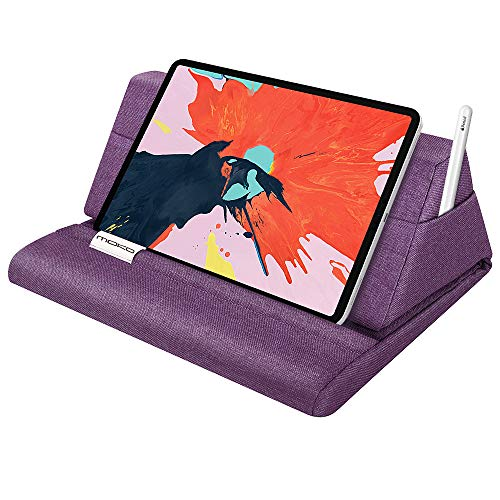 MoKo Tablet Pillow Stand, Soft Bed Pillow Holder, Fits up to 11' Pad, Fit with iPad 10.2' 2019, New iPad Air 3 2, iPad Pro 11 2020/10.5/9.7, Mini 5 4 3, Samsung Galaxy Tab, Purple
