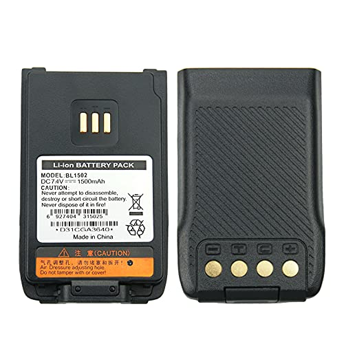 Hytera BL2010 BL1504 BL1502 Two Way Radio Battery for HYT UL913 PD562 PD502 PD682G 1500mAh Li-ion Replacement Battery