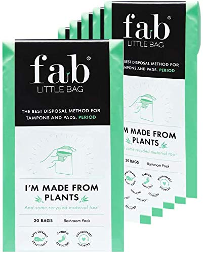 Fab Little Bag Sixer Plus Pack - 125 Sanitary Disposal Bags Plus Recyclable Refill Pack for Out and About (125 Pack)