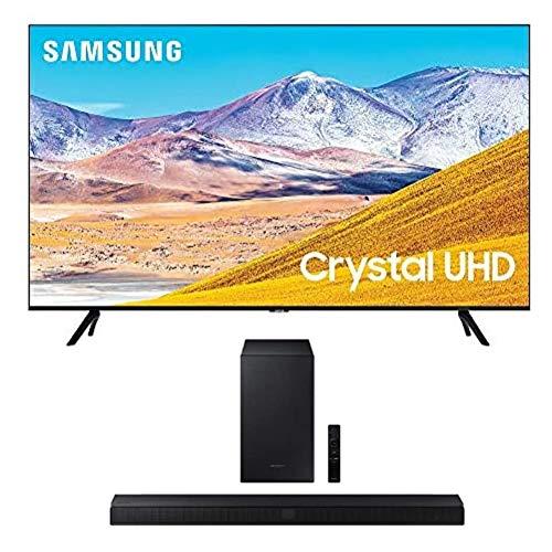SAMSUNG 50-inch Class Crystal UHD TU-8000 Series - 4K UHD HDR Smart TV with Alexa Built-in + HW-T550 2.1ch Soundbar with Dolby Audio/DTS Virtual:X (2020)