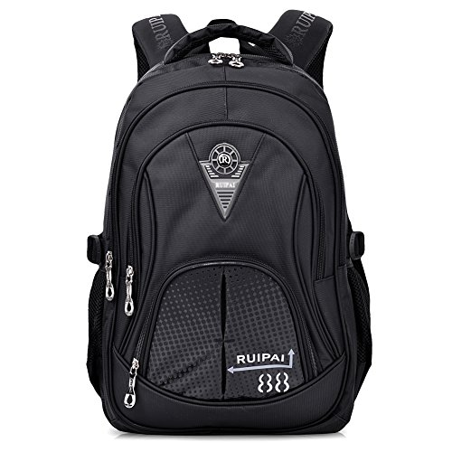 Vbiger School Backpack for Girls Boys for Middle School Cute Bookbag Outdoor Daypack (black)