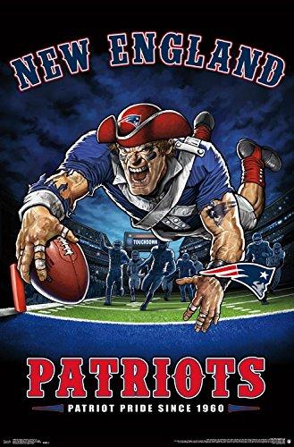 Trends International NFL New England Patriots - End Zone, 22.375' x 34', Unframed Version