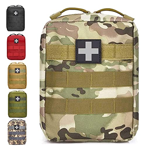 Ifak Pouch, Molle First Aid Pouch Empty, Tactical Medical Pouch, Multicam Small EMT Compact Utility Only Bag for Hiking Camping