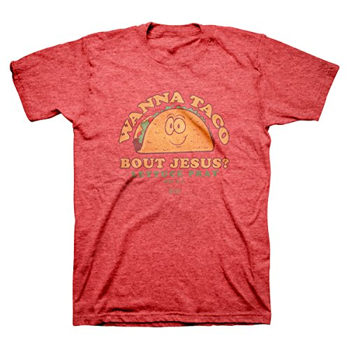 Wanna Taco T-Shirt (Large), Red Heather