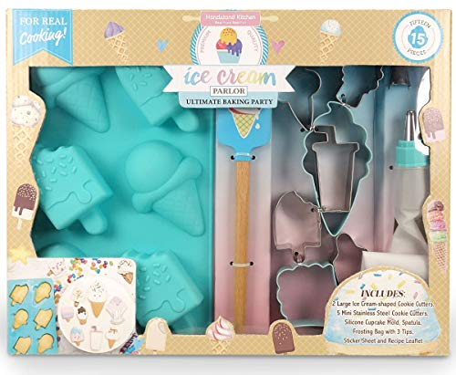 Handstand Kitchen Ice Cream Parlor 15-piece Ultimate Baking Party with Recipes for Kids