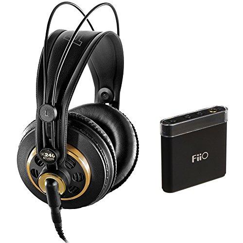 AKG K 240 Studio Professional Semi-Open Stereo Headphones with FiiO A1 Portable Headphone Amp