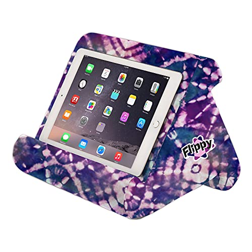 The Original Flippy Multi-Angle Soft Pillow Lap Stand for iPads, Tablets, eReaders, Smartphones, Books, Magazines (Tie Dye)