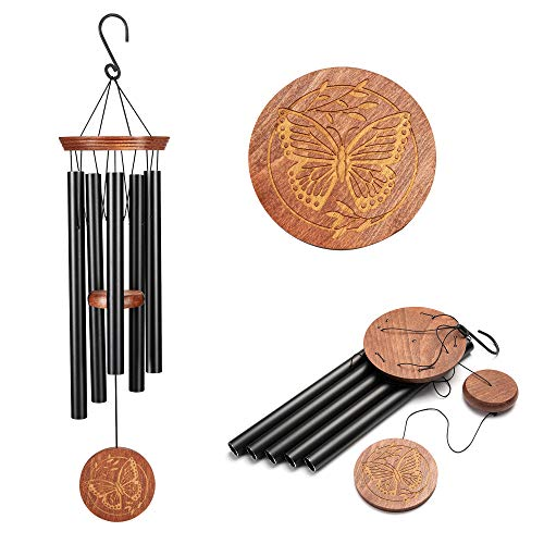 Famiry Wind Chimes for Outside Deep Tone, 36 Inch Large Sympathy Wind Chimes Outdoor Clearance, Memorial Wind Chimes with 5 Metal Tubes & Hook, Outdoor Decor for Garden, Patio, Yard, Home
