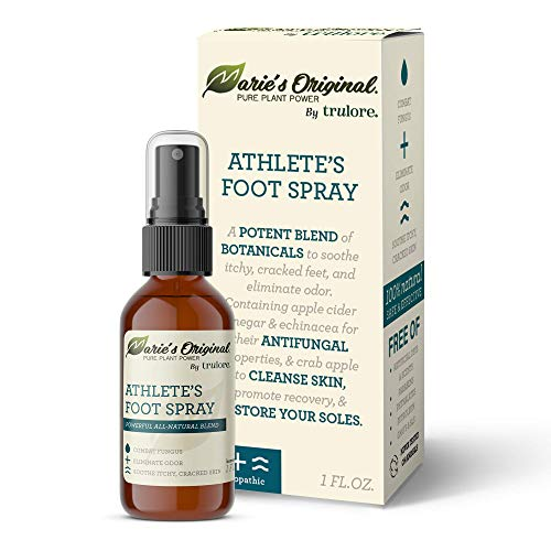 Marie Originals Natural Athlete's Foot Spray Healing Healthy Feet Antifungal Treatment - Herbal Apple Cider Vinegar Liquid Remedy Topical Solution for Fungal Infection, Ringworm, Jock Itch Relief