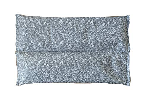 Ultra Premium Herbal Heating Pad - Microwavable - Hot Cold Therapy - Certified Organic Herbs, Organic Flaxseed & Cherry Pit Filler - Medium (Grey) Made in USA