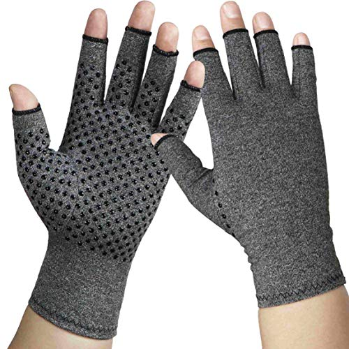 Arthritis Gloves Compression Glove for Arthritis for Women and Men-Ease Rheumatoid, Osteoarthritis Swelling ,Osteoarthritis,Muscle Tension and Computer Typing (1 Pair) (M)