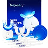 VieBeauti Teeth Whitening Kit - 5X LED Light Tooth Whitener with 35% Carbamide Peroxide, Mouth Trays, Remineralizing Gel and Tray Case - Built-In 10 Minute Timer Restores Your Gleaming White Smile