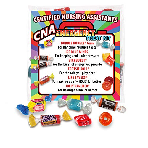 CNA (Nursing Assistants) Emergency Treat Packs (pack of 6) Fun Candy Survival Kit Gift for Certified Nurse Assistants & Staff Appreciation Week