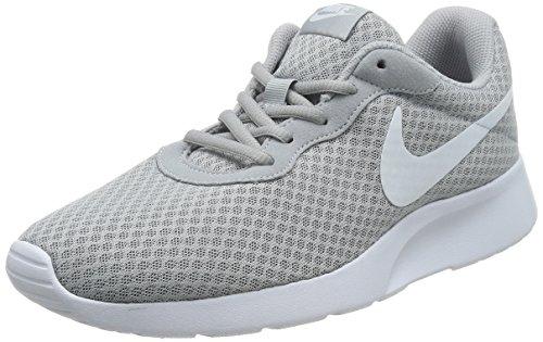 Nike Mens Tanjun Running Sneaker Wolf Grey/White 11