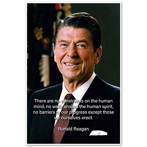 Ronald Reagan Motivational Quote Wall Art Poster