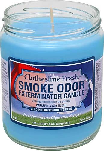 Tobacco Outlet Products Smoke Odor Exterminator 13oz Jar Candle, Clothesline Fresh, 13 oz