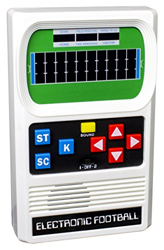 Basic Fun Classic, Retro Handheld Football Electronic Game, One Size Fits All